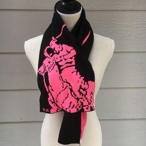 "POLO Ralph Lauren ""Pink Pony"" Reversible Scarf"